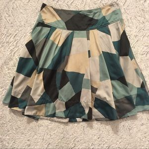 H&M Mosaic Print Greens and Grays Skirt Size 8
